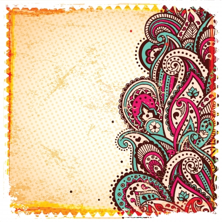 craft ornament: Abstract paisley background