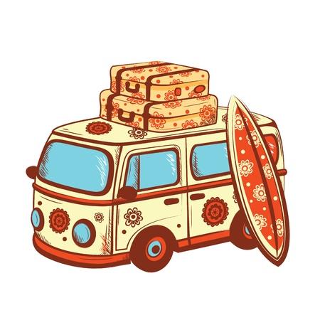 Retro Travel bus