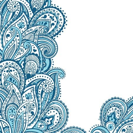 Abstract Paisley achtergrond Vector Illustratie