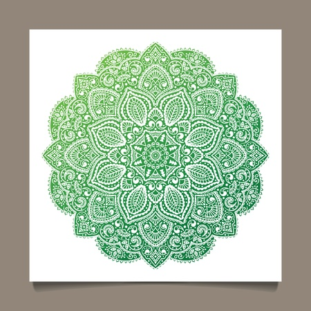 craft ornament: Beautiful Indian ornament Illustration