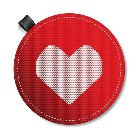 Valentine s knitted  heart Vector