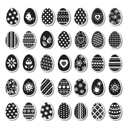 religion  herb:  Set of Easter eggs
