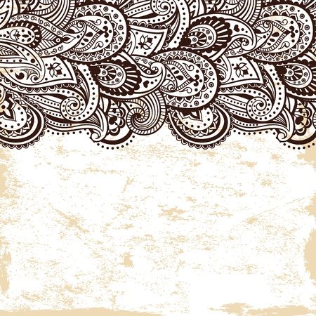 Beautiful ethnic ornament Vector
