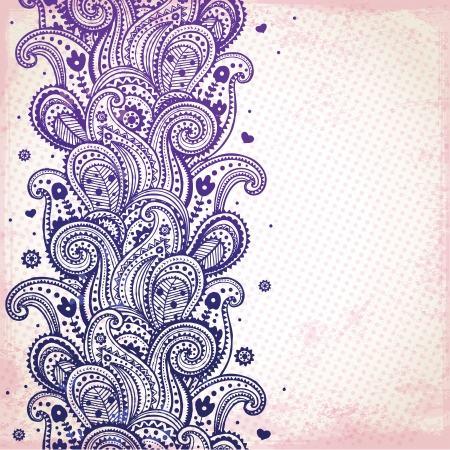 mehndi: Purple ornament