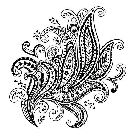 Mooie floral ornament Stock Illustratie