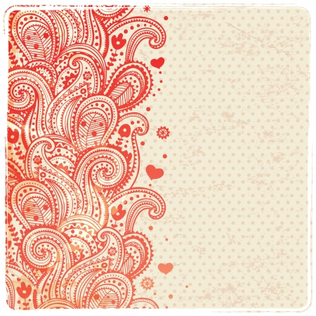 paisley background: Beautiful floral ornament