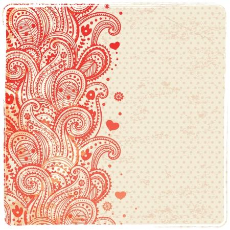 disegni cachemire: Bella ornamento floreale