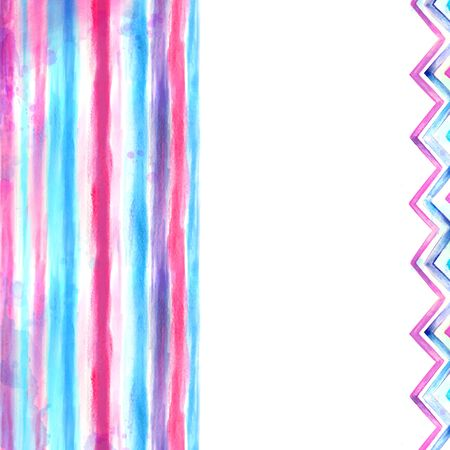 Watercolor blue and pink background Zdjęcie Seryjne