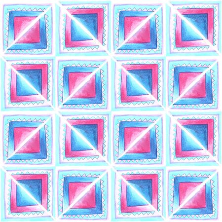 Watercolor blue and pink  pattern Stock Photo - 18546031