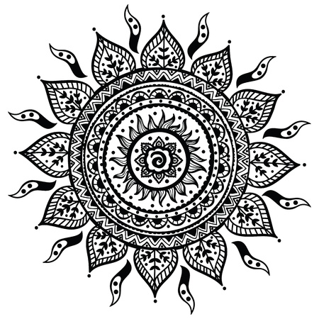 Beautiful Indian ornament Ilustrace