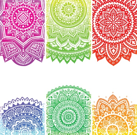 Beautiful Indian ornament Stock Vector - 18546030