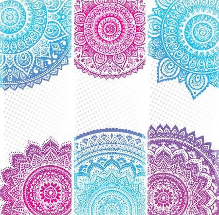 曼陀羅: 美しいインドの飾り  イラスト・ベクター素材