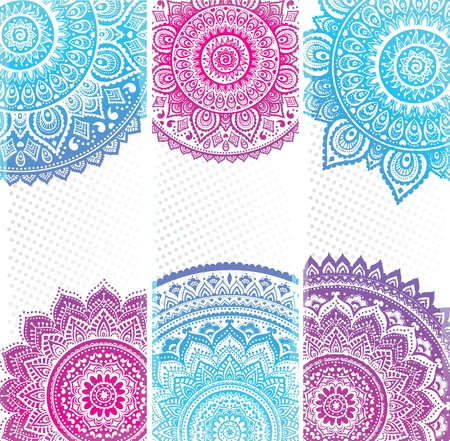 indian fabric: Beautiful Indian ornament Illustration