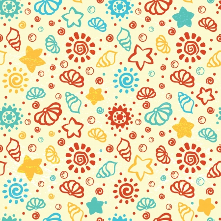 Summer shell pattern Vector