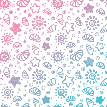 shell pattern: Summer shell pattern