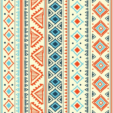 ethnic pattern: Abstract tribal pattern Illustration