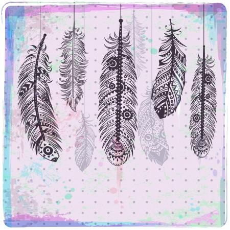 feathers: Ethnic Dream catcher