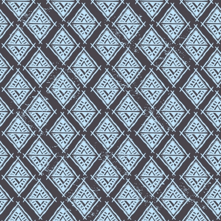 african fabric: Abstract tribal pattern Illustration