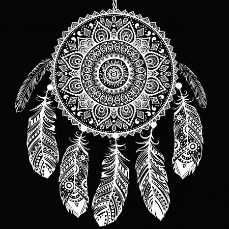 tollas: Etnikai Dream Catcher Illusztráció