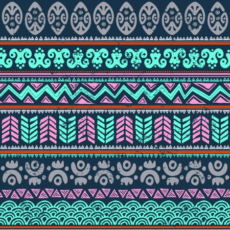 textiles: Abstract tribal pattern Illustration