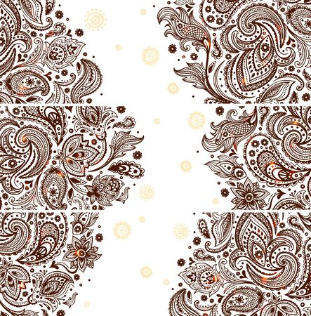 Set of Beautiful vintage ornate banners Stock Vector - 19895206