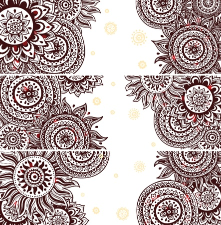 Set of Beautiful vintage ornate banners Stock Vector - 20073758