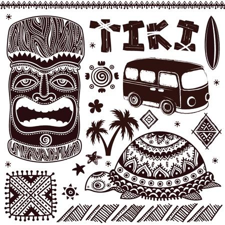 aloha: Vintage Aloha Tiki illustration