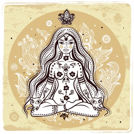 Muchacha en la meditación Foto de archivo - 20312539