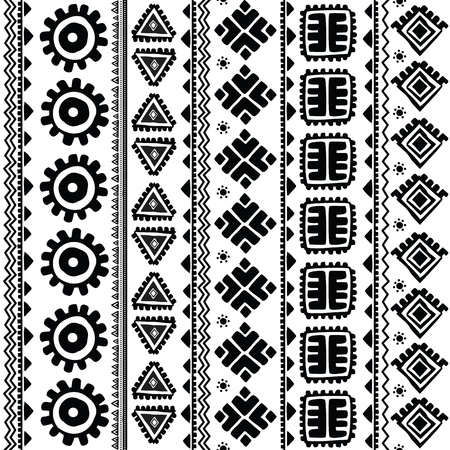 lace pattern: Abstract tribal pattern Illustration