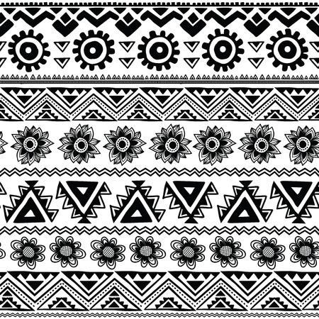 Abstract tribal pattern Stock Illustratie
