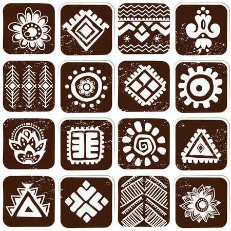 tribal pattern: Abstract tribal pattern Stock Photo