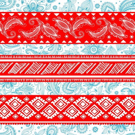 Tribal vintage ethnic pattern seamless illustration  Vector