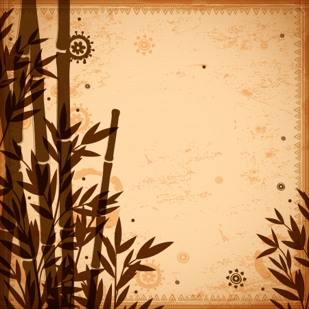 Bamboo vintage illustration can be used as a greeting card Vector