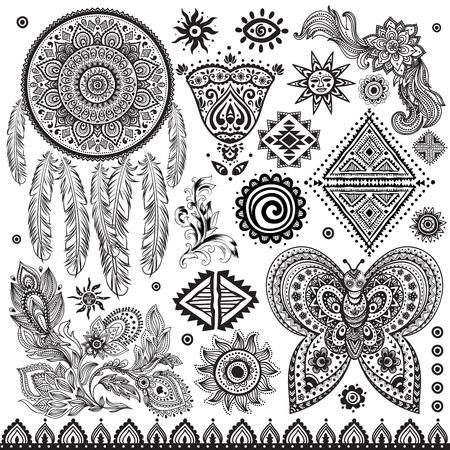 Tribal Jahrgang ethnischen Muster festgelegt Illustration für Ihr Unternehmen Illustration