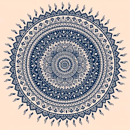 曼陀羅: 美しいビンテージ飾りはグリーティング カードとして使用することができます。