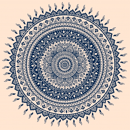 mandala: Beautiful vintage ornament can be used as a greeting card