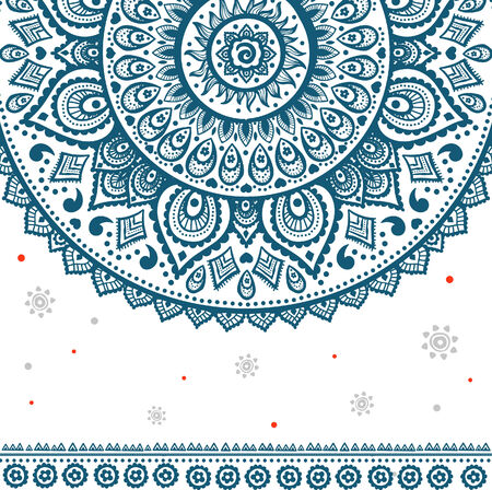 Beautiful vintage ornament can be used as a greeting card Vector