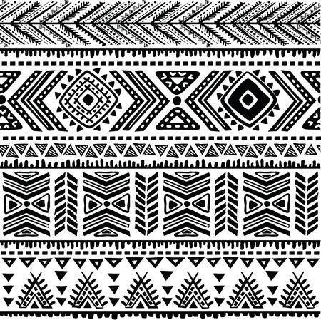 flower patterns: Abstract stammenpatroon Stock Illustratie