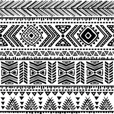 grunge pattern: Abstract tribal pattern Illustration