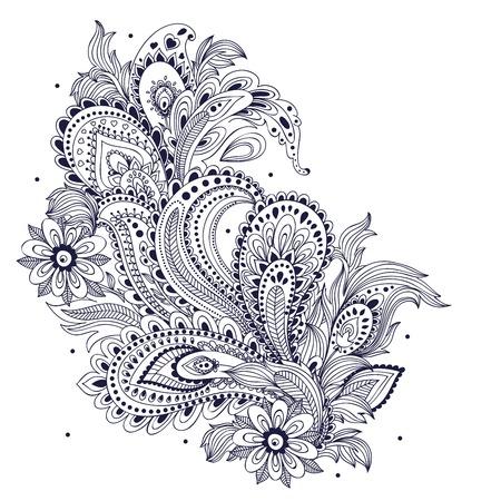 Ornamento hermoso de la vendimia Foto de archivo - 25029983