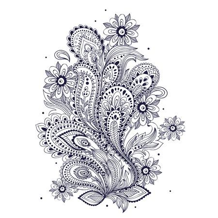 Mooie vintage ornament Stock Illustratie