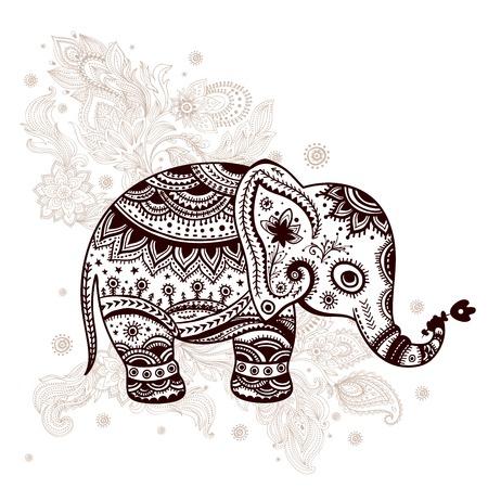 mandala: Ethnic elephant illustration