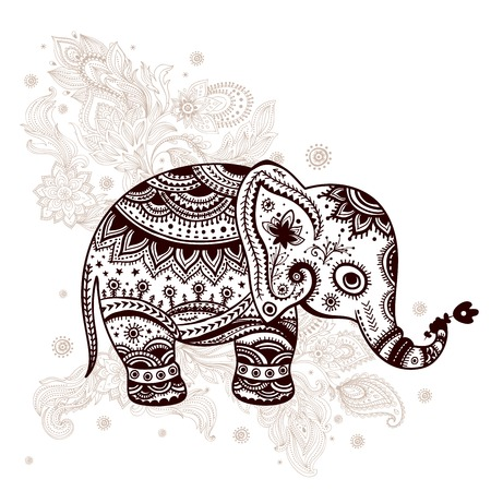 Ethnic elephant illustration