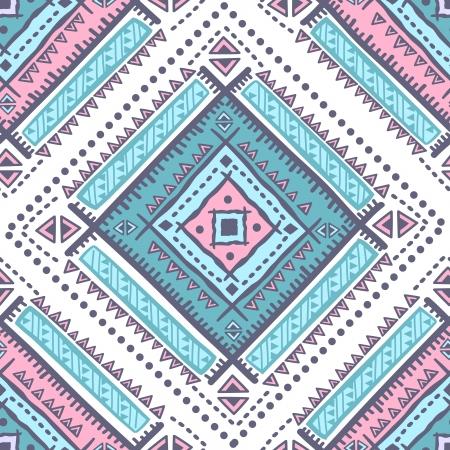 tessile: Tribal modello etnico illustrazione d'epoca senza soluzione di continuit�