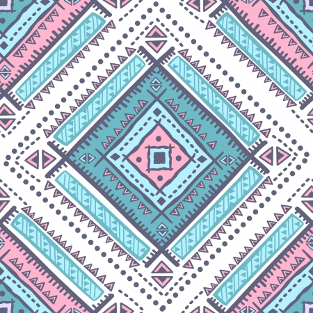 grunge pattern: Tribal vintage ethnic pattern seamless illustration