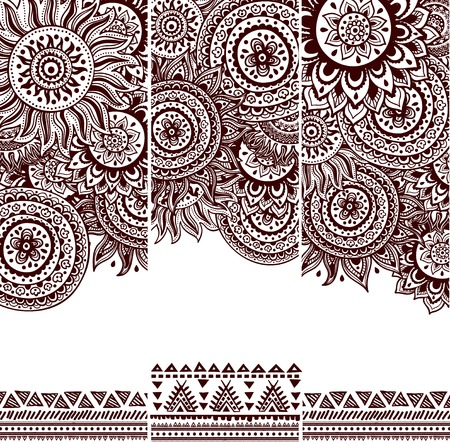 Beautiful vintage floral pattern Çizim