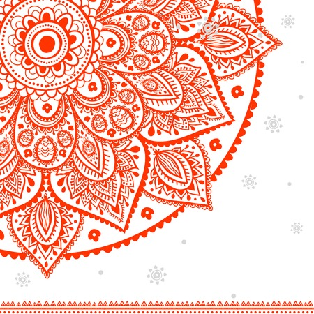 mandala: Beautiful vintage ornament