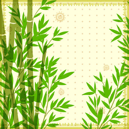 Bamboo vintage illustration