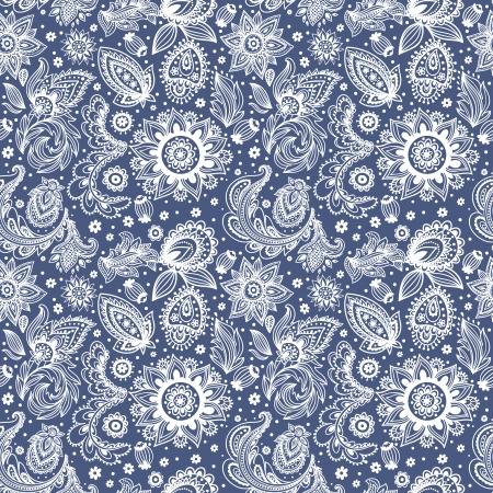 아름 다운 빈티지 플로랄 패턴
