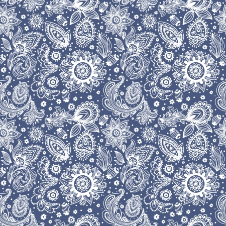 Beautiful vintage floral pattern Иллюстрация